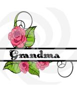 Flower Split Monogram Grandma 200smp-Digital Clipart-Art Clip-Gift Cards... - $1.99