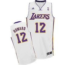 New Adidas Dwight Howard White Swingman # 12 Los Angeles Lakers Jersey Sz L - $50.00