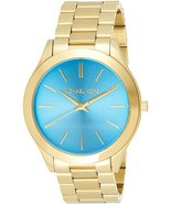 Michael Kors Slim Runway Rose Gold/Blue Ladies Watch MK3265 New With Tags - $148.50