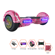GlareWheel Spiderman Hoverboard With Built-In Bluetooth Speaker LED Ligh... - $149.00+
