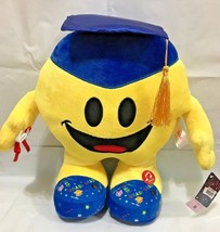 2018 Graduation Emoji Pillow 13.5'' INCHES with SOUND / BLUE HAT & FOOT - $25.73