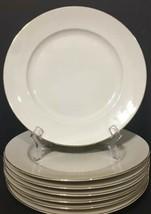 "Rosenthal F Germany Set of 7 Dinner Plates 10"" Gold Trim PD19 - $34.99"