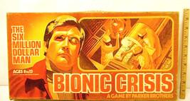 Vintage 1975 Bionic Crisis The Six Million Dollar Man Board Game Lee Majors - $20.93