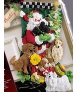 Bucilla Santa Paws Dogs Puppies Santa Christmas Holiday Felt Stocking Ki... - $89.95