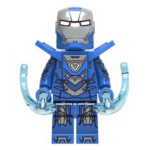 Iron Man Armor Mark 30 MK30 (Blue Steel) Marvel Lego Minifigures Toy Gif... - $2.99