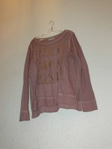 Maurices Long Sleeve Pink Sweatshirt size large AM - $11.50