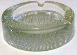 Vintage Blenko Round Ashtray Pressed Polished & Designed Clear Glass - $45.99