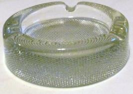 Vintage Blenko Round Ashtray Pressed Polished & Designed Clear Glass - $45.99