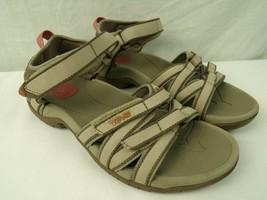 Women's Teva Sandals Size 7 Tan Brown 4266 Open Toe - $28.49