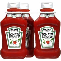 Heinz Tomato Ketchup Pack of 3 Squeeze Bottles 44 oz. Each 3 PK 57 Varie... - $31.63