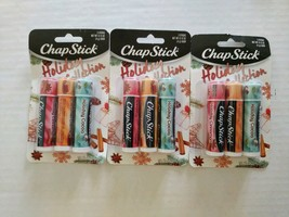 ChapStick Holiday Collection Cinnamon, Caramel Creme, Holiday Cocoa - 3 ... - $15.85