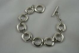 "Tiffany & Co Peretti Square Cushion Link Toggle Bracelet Sterling Silver 8"" - $291.00"