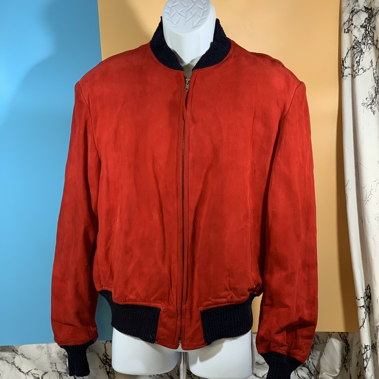 Primary image for Vintage McGregor Drizzle Suede Coat Red Size 42 Imported Skins