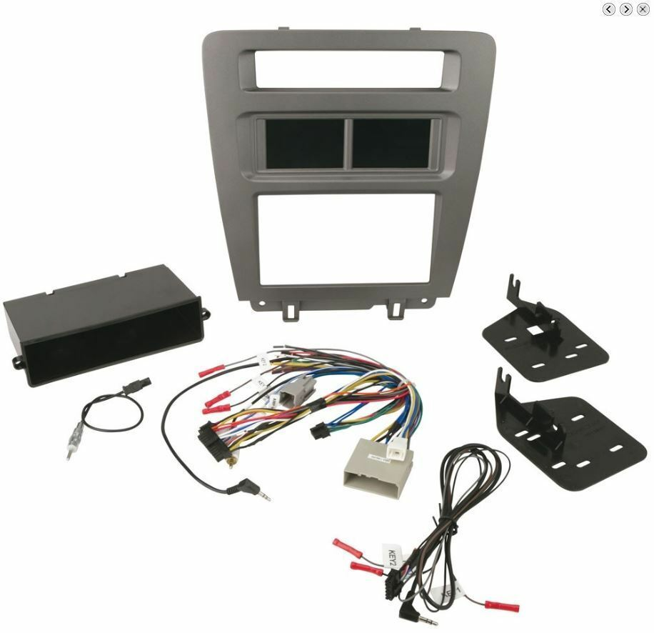 SCOSCHE 2010-14 Ford Mustang Double DIN /DIN w/pocket Installation Touchscreen