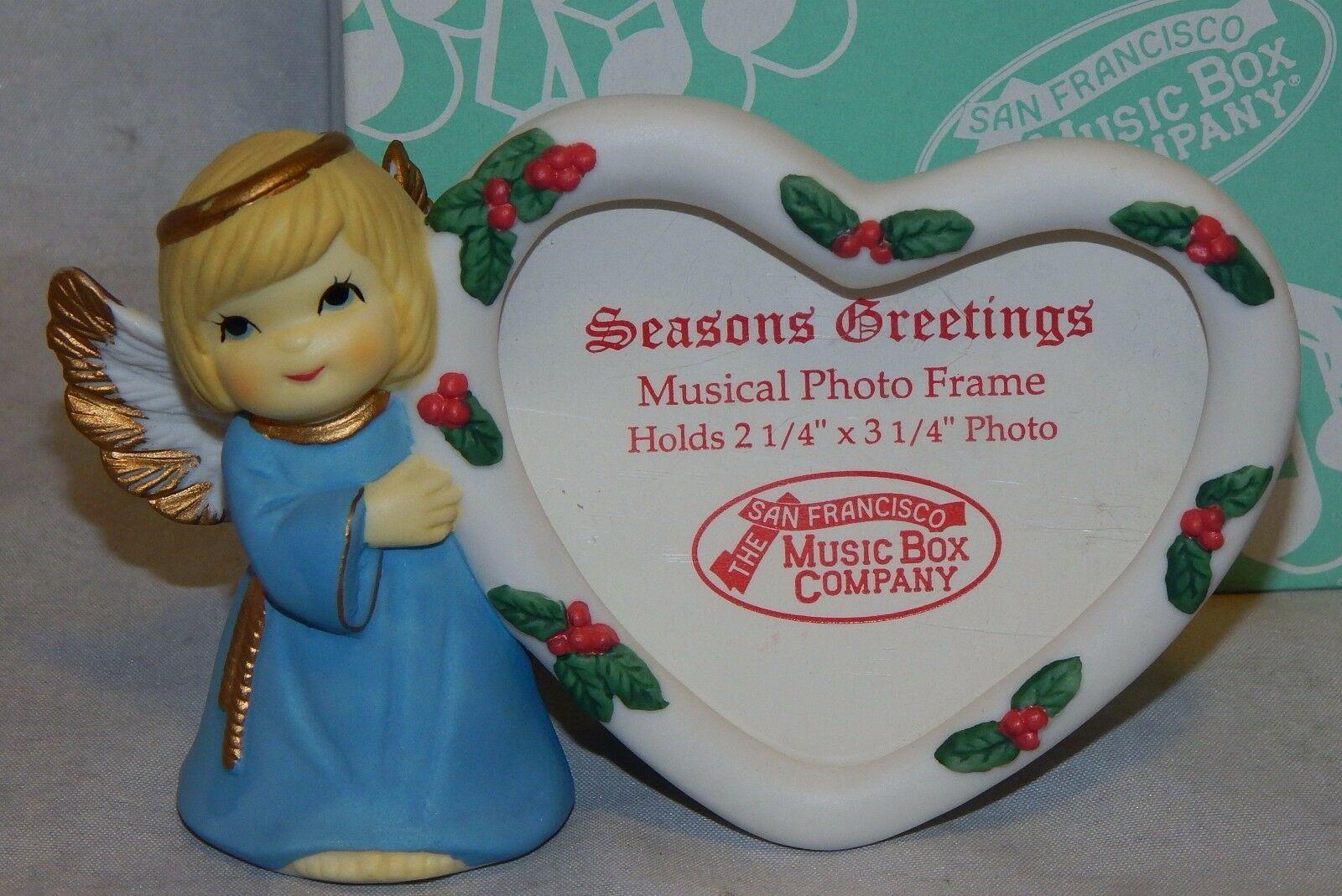 San Francisco Music Box Company Season's Greetings Musical Photo Frame