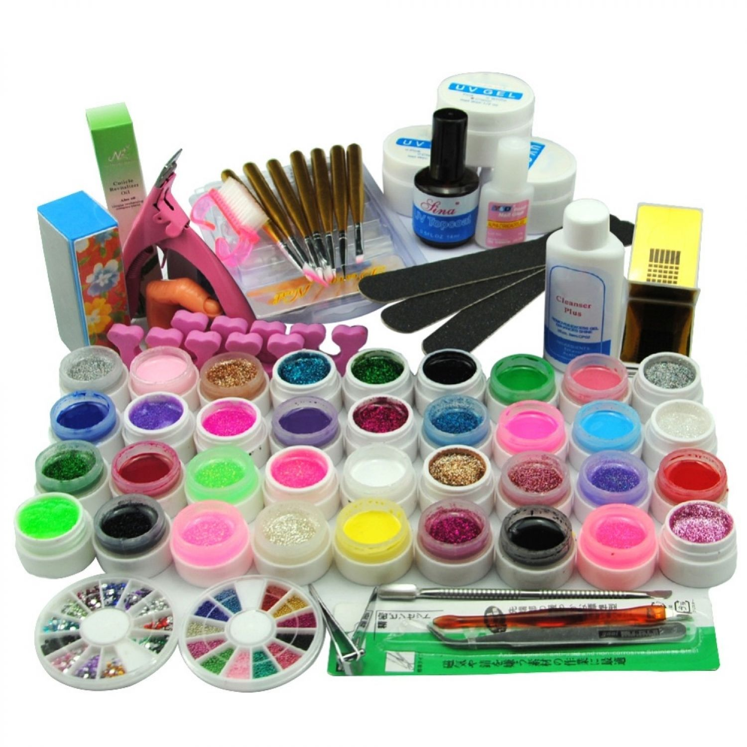 Nail Art Set Manicure Tools Colorful Gel Kit and similar items