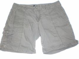W14003 Womens Calvin Klein J EAN S Olive Green Cargo Bermuda Shorts 8 - $25.09