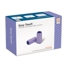 EasyTouch Pressure Activated Safety Lancet- 28G 100/box - $14.75
