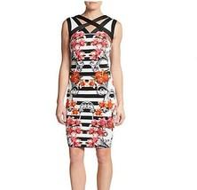 NWT JAX   Multi  Color  Striped Floral-Print Sheath Dress size 2 - $42.31