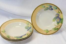 "PTS International Interiors Newbury Rim Soup Bowls 9"" Lot of 4 - $54.87"