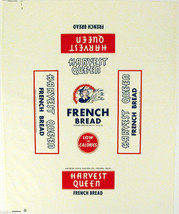 Vintage bread wrapper HARVEST QUEEN Golden State Fresno California new o... - $12.99