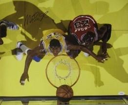 Magic Johnson signed Los Angeles Lakers 16x20 Photo vs Jordan- JSA Hologram - $84.95