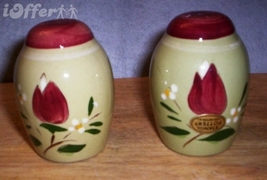 """STANGL MAGNOLIA SALT AND PEPPER SHAKERS  3"""" - $19.95"""