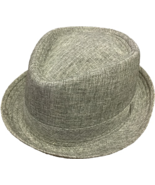 Henschel Polyester Diamond Tip Fedora Self Band Rolled Brim Gray Olive B... - $47.00