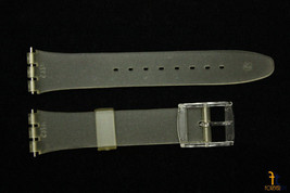 17mm PVC Frosted Transparent Watch Band compatible fits vintage SWATCH w... - $10.95