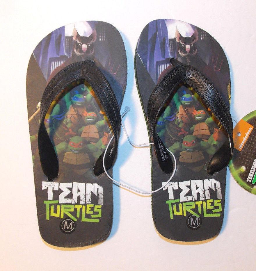 Teenage Mutant Ninja Turtles Toddler Boy/'s Flip Flop 5-6 7-8 or 9-10  11-12 NWT