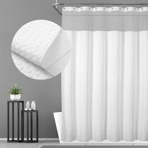 N&Y HOME Hotel Waffle Weave Shower Curtain - Mesh Window Top, SPA Feelin... - $25.66