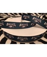 "1 Yard 7/8"" Philadelphia Eagles Grosgrain Ribbon  - $1.18"