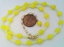 Yellow Opal Glass Beaded Necklace - $27.15