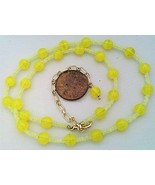 Yellow opal glass necklace thumbtall