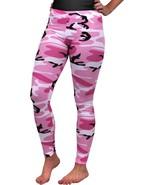 Women's Pink Camo Full Length Leggings, Stretch Body Shaper Army Spandex... - $11.99