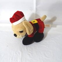 Dan Dee Santa Christmas Dog Stuffed Plush Toy Animal Brown Decor Decoration - $12.86