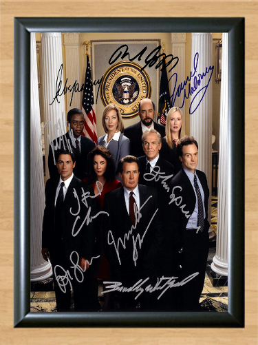 Used, The West Wing Cast Signed Autographed A4 Photo Print Poster TV Memorabilia dvd for sale  USA