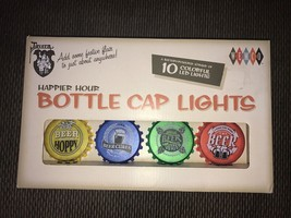 New Set Of Ten LED Beer Bottle Cap Novelty Lights-Very Sharp and Cute - $29.69