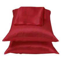 Burgundy/Red Charmeuse Lingerie Satin Pillowcase King - $10.99