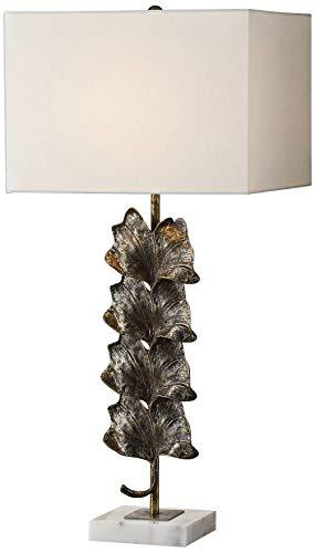 Uttermost Ginkgo Aged Gold and Rust Bronze Table Lamp