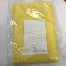 "NWOT 90"" X 52"" Mid Century VTG Sheer Solid Yellow Curtains 8 Panels Wind... - $118.79"