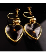 Vintage mustard seed earrings - Grace devotion Faith - valentine screw o... - $95.00