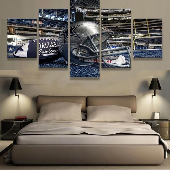 Framed 5 Piece Dallas Cowboys Stadium Canvas Prints