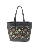 Disney Store Japan Beauty and the Beast Bell Rose tote bag black Hand ba... - $127.71