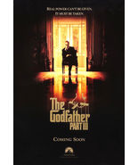 1990 THE GODFATHER PART III Al Pacino Movie POSTER 27x40 Original Single... - $29.99