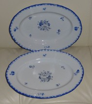 "2 ANTIQUE BOHEMIA POTTERY PERSONAL TRAYS 9"" LONG BY 6 5/8"" WIDE - $69.00"