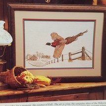 Autumn Spirit Pheasant Cross Stitch Leaflet Book Color Charts 1990 Farm Country  - $18.99