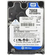 Western Digital Blue 750GB SATA/600 5400RPM 8MB 2.5Hard Drive - $56.35