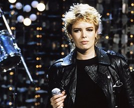 Kim Wilde in leather jacket 1980's short blonde hair 16x20 Canvas Giclee - $69.99