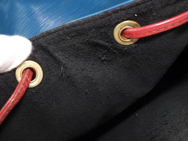 Auth LOUIS VUITTON Noe Epi Leather Tri Color Color Drawstring Shoulder Bag Purse